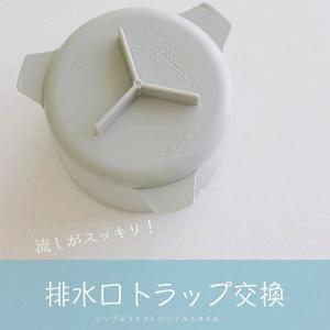 キッチンの排水口がスッキリする方法。排水口トラップ交換しました!悪臭予防にも。