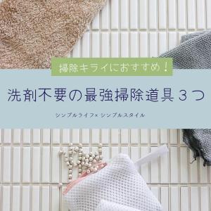 掃除キライな人におすすめ! 毎日、カンタンな習慣が身につく最強な掃除道具3つ!