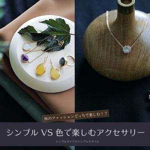 秋のファッションどっちで楽しむ!? シンプルなアクセサリー VS 色で楽しむ天然石アクセサリー