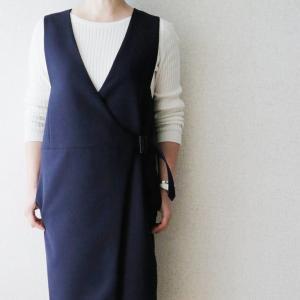 40代ファッション|骨格診断ストレート、スッキリ見えるワンピースコーデ。