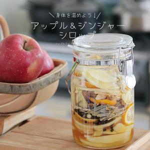 りんごと生姜の自家製シロップ作り。