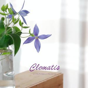 花のある暮らし|涼やかな色が今の気分のクレマチス