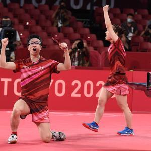 今夜も暑かったし、東京オリンピック2020 卓球混合ダブルスも熱かった!