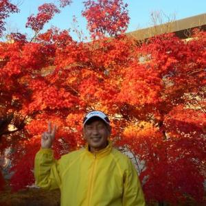晩秋の福知山マラソン、初対面でしたが話も弾みました