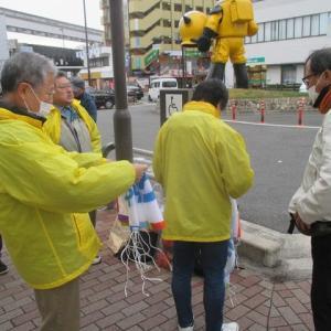 阪急南茨木駅から、昼宣伝、茨金へ