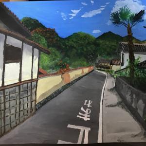岡山でウン十年振りに水彩画を描くの巻