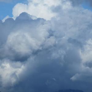 天高く雲肥ゆる秋と食欲の秋