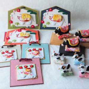 【正月飾り・干支飾り】干支丑(うし・牛)の干支飾り