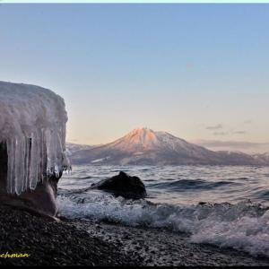 飛沫氷と恵庭岳