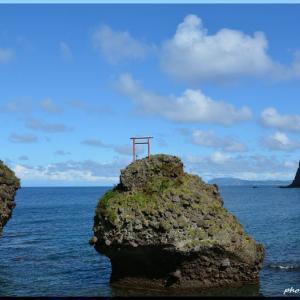 積丹半島の奇岩