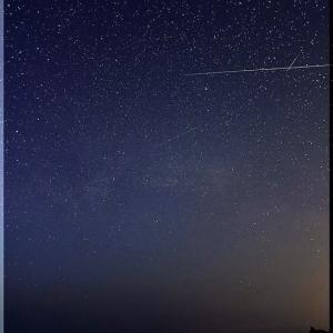 積丹の海で星景写真
