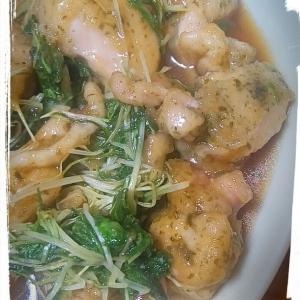 ☆鶏肉と水菜のオイスター炒め~青海苔風味~☆