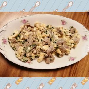 ☆あさりとブロッコリースプラウトの卵炒め☆
