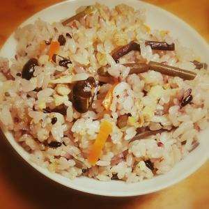 ☆わらびの炊き込みご飯☆