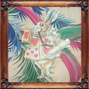 ☆不思議の国のアリス 白ウサギ 掛け時計☆