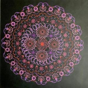 いよいよ来週から! 宙を奏でる点描曼荼羅画 福宙会作品展