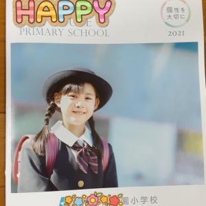 小学校のパンフレットの表紙を飾る。