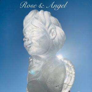 薔薇を持つ水晶の天使さん
