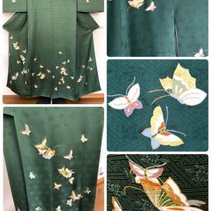 蝶が舞う附下とオシャレな小紋の裄・袖巾直し!