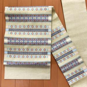 本場琉球の花織の名古屋帯のお仕立て!