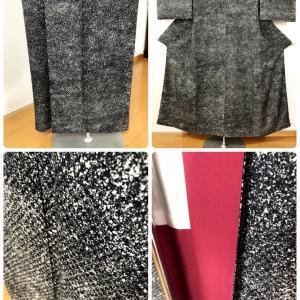 渋い小紋の裾直し、袖付けなどのほころび直し!
