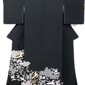 豪華で美しい黒留袖比翼付きのお仕立て!