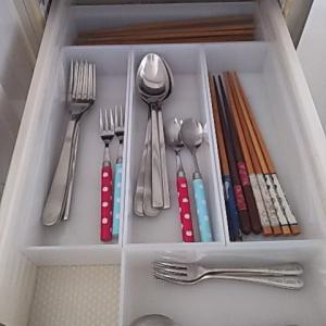 【掃除】【収納】箸とスプーン類の収納