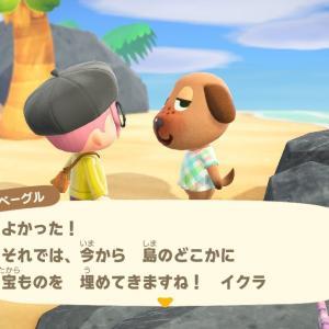 【あつ森】ベーグルちゃんと宝探しゲーム