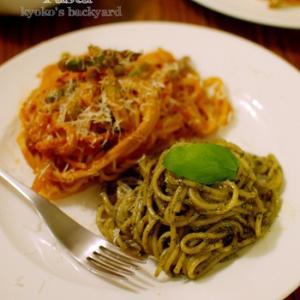 2種類パスタ+サラダ