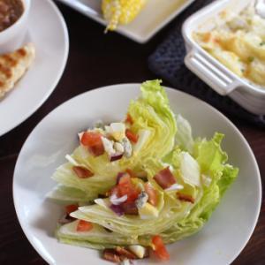 ブルーチーズが美味しいウェッジサラダと、野菜料理いろいろ