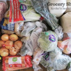 週1あらため3週間に1回の食材まとめ買いと献立(2-19)- 22 Days