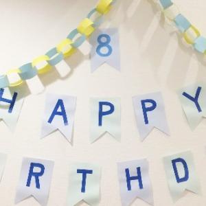 ナツオ8歳の誕生日。