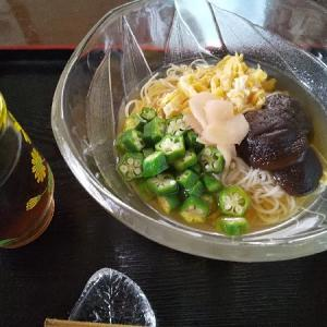 夏の終わりの素麺