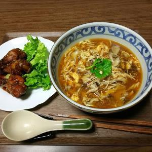お家で食べる酸辣湯麺