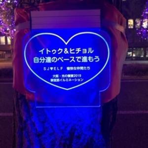 スパージュニア SJ のイルミネーション大阪で見つけたよ!