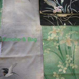 菖蒲の着物に亀の帯と燕の羽織
