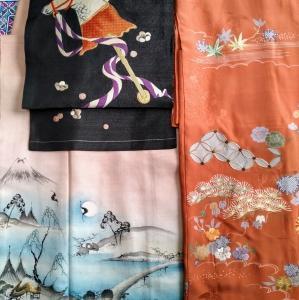 富士の着物に春駒の帯