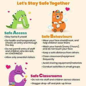 休園中の取り組み -Let's Stay Safe Together