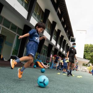 コロナ禍の課外クラス : サッカー