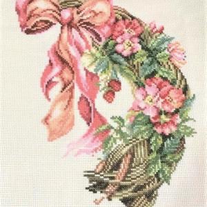 ピンクのお花のリース 6
