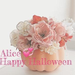チャーミングなコーラルピンクのハロウィンアレンジ♡