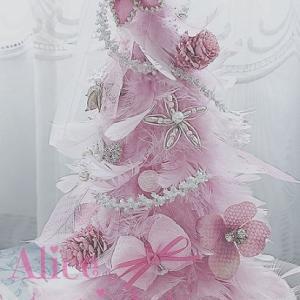 ふんわり…大人ピンクのクリスマスツリー…ラブリーに♡