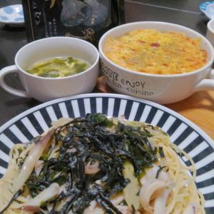 しじみスープの素で2品。そして台風の爪跡。
