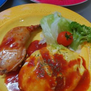 チキンのトマト煮とオムライス