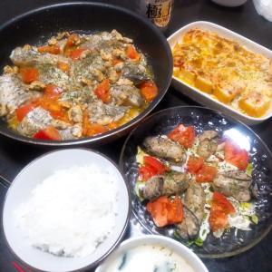 蒸し牡蠣のサラダと鱈のアクアパッツァ