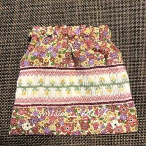生徒さんの作品 ピンクラインのばね口ポーチと、娘の三角巾