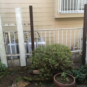 お庭改造~板壁フェンス編