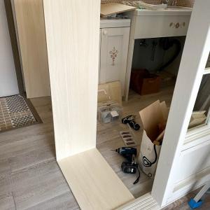 築古アパートのセルフリノベ~コンパクトなくつ箱を作る