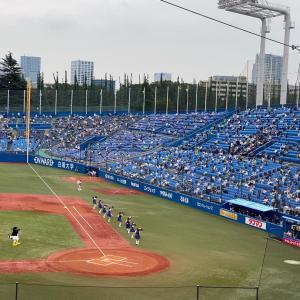 コロナに気をつけて、神宮で野球観戦!!
