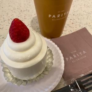 久しぶりのパリヤでのケーキ